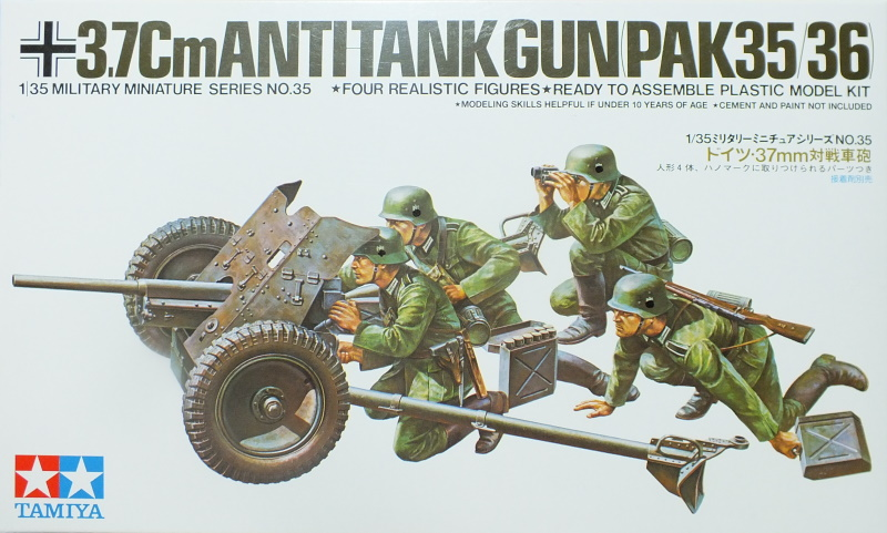Tamiya 1/35 3.7cm Antitank Gun PaK 35/36 (35035) In-Box Review and History