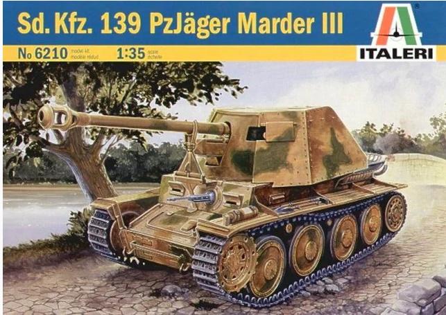 Italeri 1/35 SdKfz 139 Panzerjäger Marder III (6210) In-Box Review and History