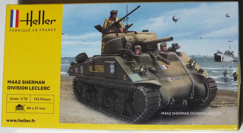 Heller 1/72 M4A2 Sherman Division Leclerc (79894) In-Box Review and History