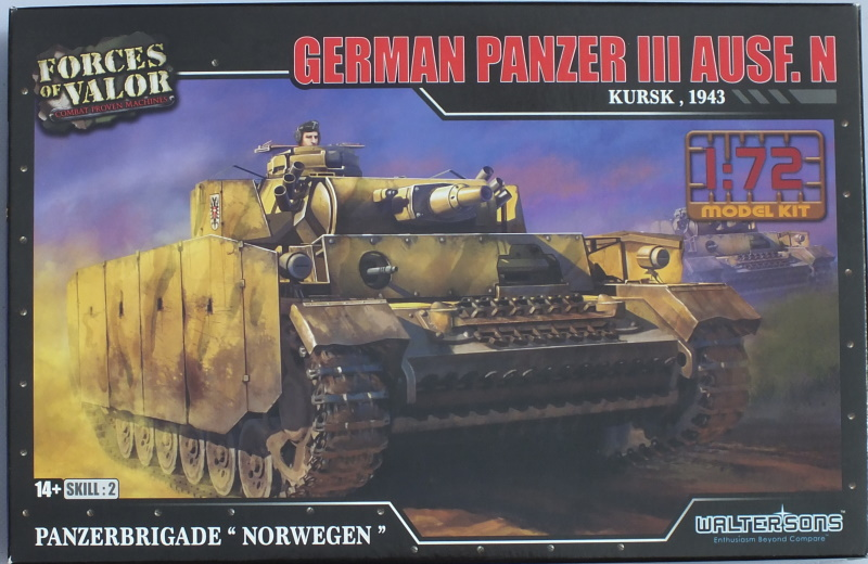 Forces of Valor 1/72 Panzer III Ausf. N (87011) In-Box Review and History