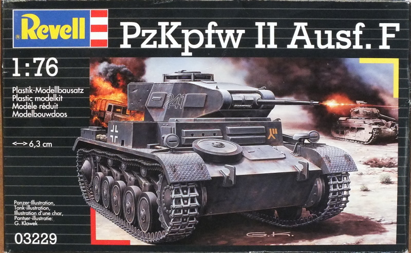 Revell (Matchbox) 1/76 PzKpfw II Ausf. F (03229) In-Box Review and History